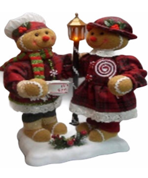 moving ginger bread figurines with music